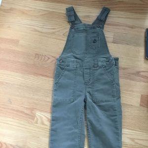 Oshkosh Genuine kids overalls, olive green, 4t boy